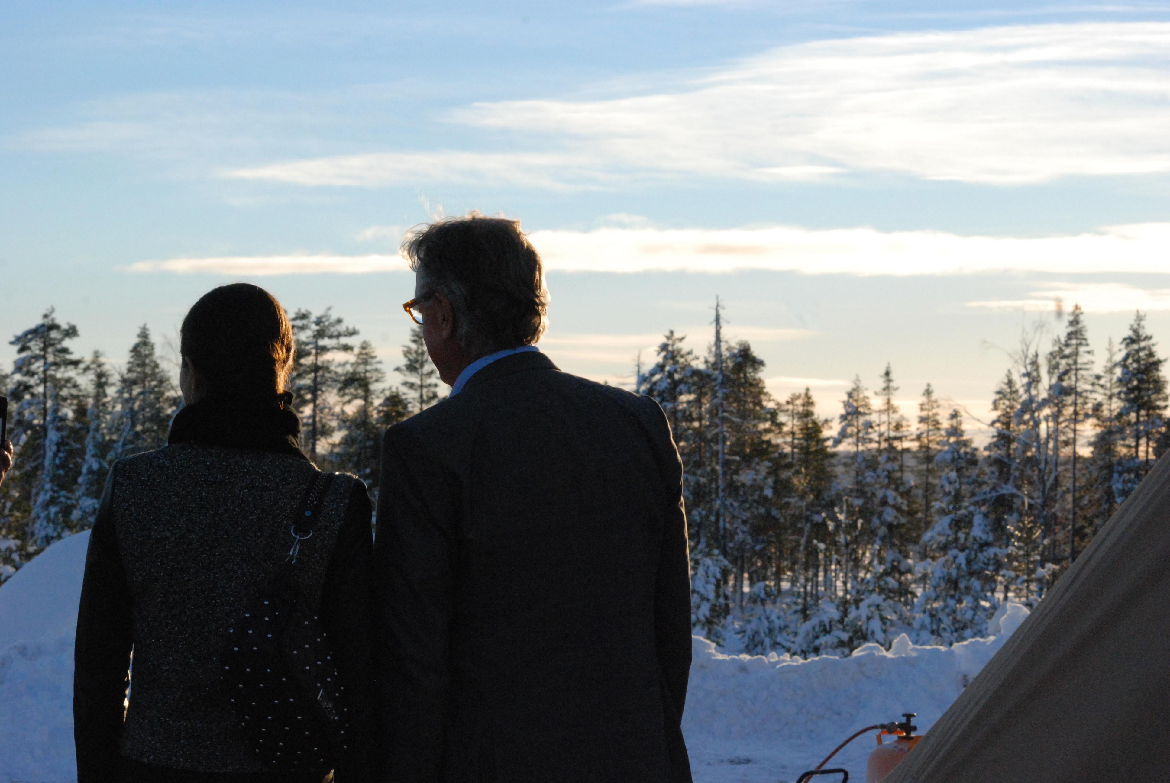 Kronprinsessan Victoria och Tomas Riklund, en vacker dag i norrland.